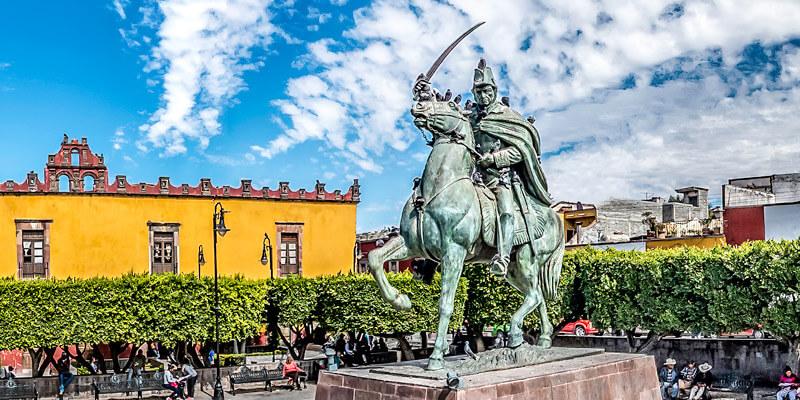 Plaza Cívica en San Miguel de Allende, Guanajuato